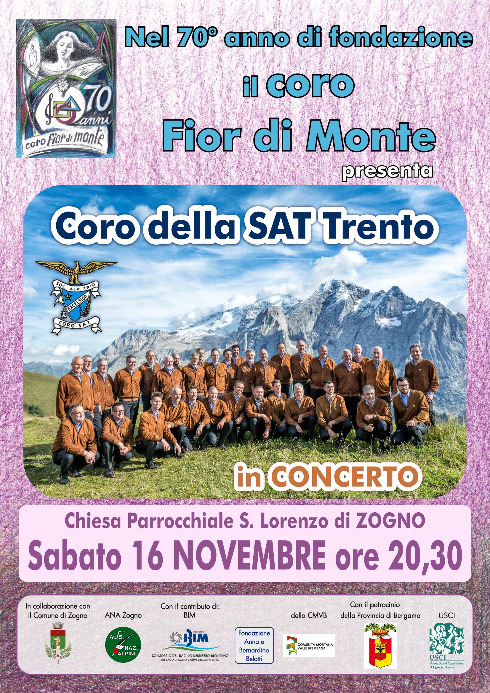 Concerto del coro della Sat @ Chiesa Parrocchiale di Zogno